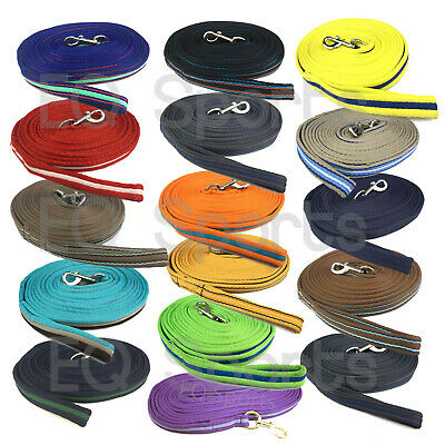 FAST P&P Quality Padded Cushion Lunge Line/ Rein With Handle 5 Colours!!