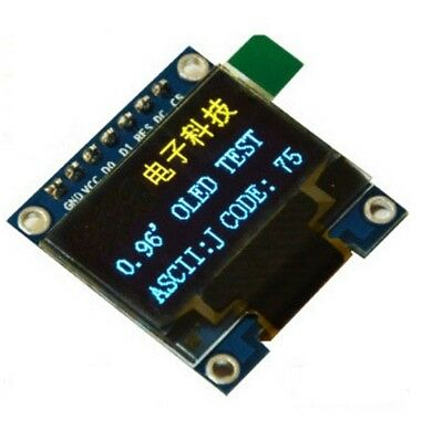 "1PCS 3-5V 0.96"" SPI Serial 128X64 OLED LCD LED Display Module blue yellow NEW"