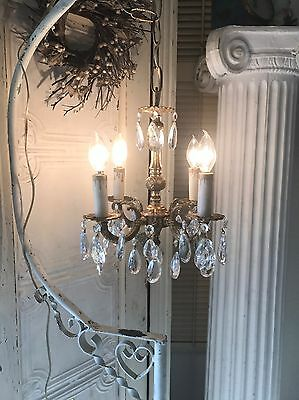 Antique Chandelier Sweet Petite Small Chandelier Dripping In Crystals
