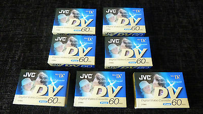 7 JVC Mini DV 60min Digital video Casettes M-DV60DE Brand New Sealed