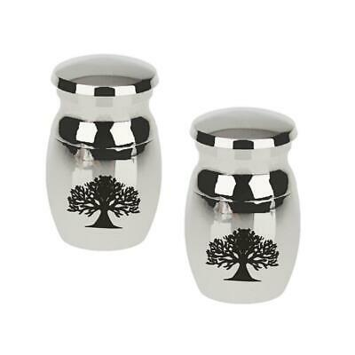 2pcs Tree of Life Keepsake Cremation Ashes Urn Funeral Container Jar Mini