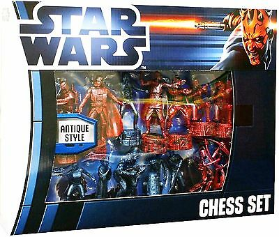 New Star Wars Saga Antique style Chess Set Board Game UK Collectors Item