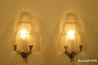 Pair Of Wonderful French Art Deco Sconces 1925/1930 - Waterfall By Sabino