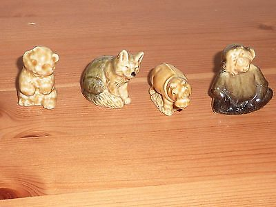 4 Wade Whimsie Animals - Fox Hippo Monkey + Another