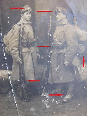 Ww 1- Original Photo Two Soldiers With Ful Snow Equipment