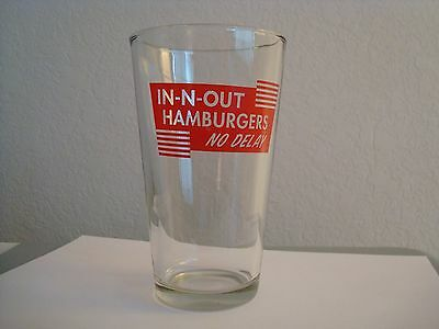 NWOT In-N-Out Burger Drinking Glass 12 oz.