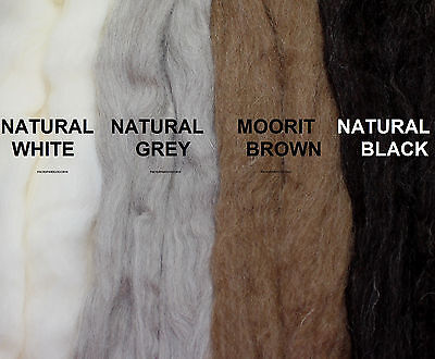 4 NATURAL UK SHETLAND WOOL TOPS / roving / needle felting / spinning / fibre