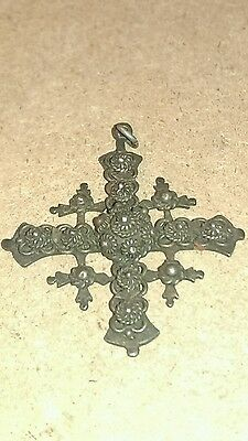 vintage sterling silver Taxco cross pendant