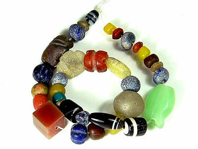 SET Ancient Excavated Assortment LAPIS Carnelian Agate Animal Jade Glass Bead