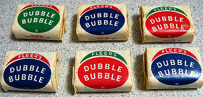 (6) PIECES OF 1950s FLEER DOUBLE BUBBLE GUM FUNNIES WITH PUD COMIC INSIDE