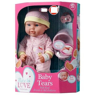 New Baby Tears Doll Blue and Accessories Drinking, Wetting BNIB