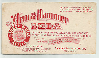 Arm & Hammer Soda, Church & Dwight Co., New York, Ink Blotter