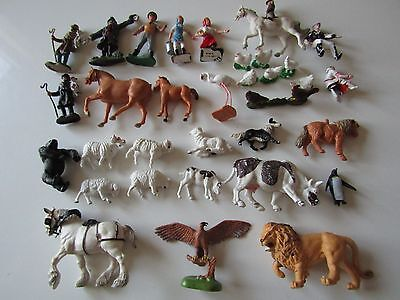 Vintage Plastic Animals and Figures Britains and Hong Kong 30+ Items