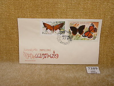 LAOS POSTES LAO PAPILLONS BUTTERFLIES 2V FIRST DAY COVER FDC 1982 LOW PRICE 99p