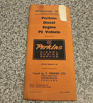 Perkins P3 Instruction chart Diesel