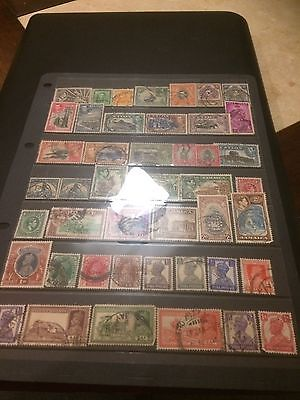 King George Vi Br Commonwealth Stamps On A4 Stockcard All Different