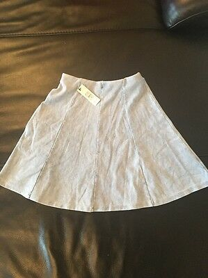 river island pale denim skater skirt 11/12 years