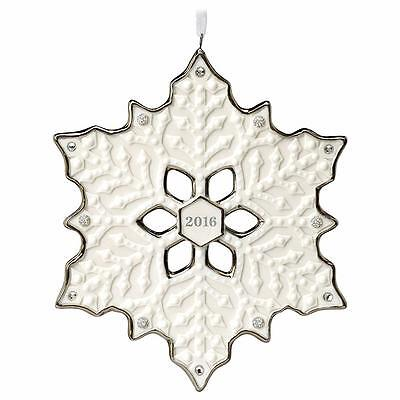 Hallmark 2016 Dated Snowflake Porcelain Ornament