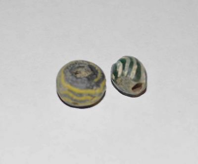 (8485) Lot Of 2 Ancient Bead From Khwarizm Region.
