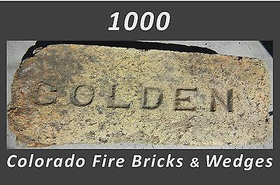 1000 Reclaimed Early 20Th Century Colorado Fire Bricks & Wedges