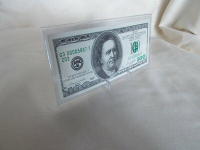 Warehouse 13 - $100 Bill Prop Money with Stand and COA