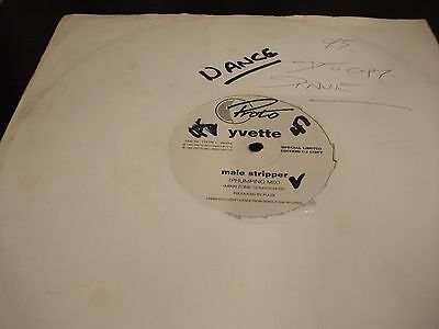 "12"" Vinyl Record/ Yvette - Male Stripper :vg+"