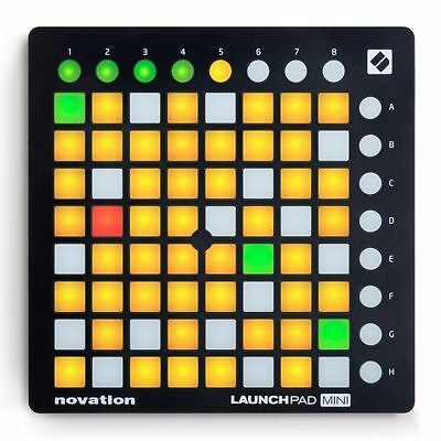 Novation Launchpad Mini MK2 Pad Controller With Ableton Live Lite Software