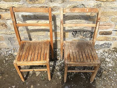2 Child's Infant Wooden School Chairs ~ Lovely Patina Vintage Retro (Qty Avail)
