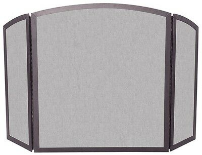 Uniflame® 3-Panel Bronze Wrought Iron Fire Screen with Continuous Arch