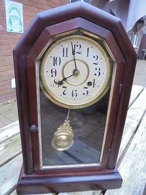 Antique American Chiming Mantel Clock Direct From House Clearance