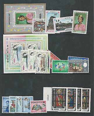 Dominica - 1967 to 1972  Five different National Day sets - Un-mounted mint