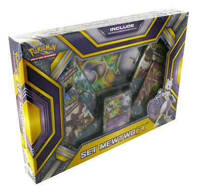 Box Pokemon SET MEWTWO EX + Carta Gigante + 4 Buste ITA