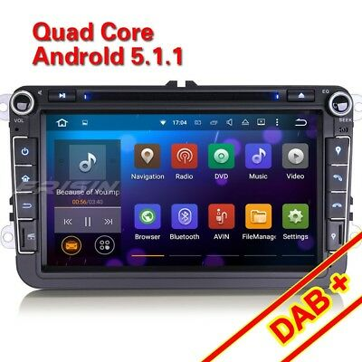 "8""Car DVD Android 5.1.1 DAB+ GPS Player for VW Passat Golf Touran Jetta ES3015UA"