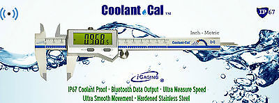 "IP67 Digital Caliper Coolant/Dust Proof 0-6""/0.0005"" Bluetooth output iGAGING"
