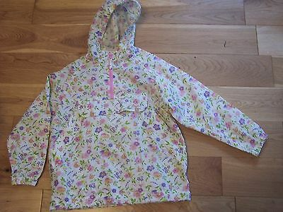 Joules Cream Floral Pack-Away Mac 7 Yrs