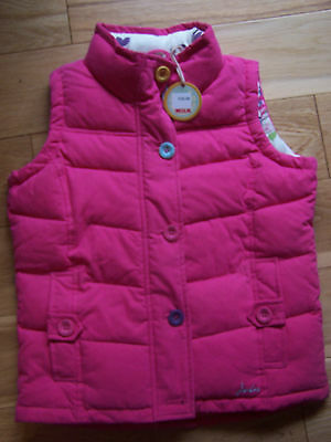 BNWT Little Joule Pink Padded Gillet 7 Yrs