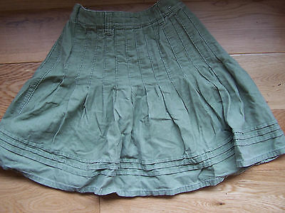 Next Girls Green Fine Cord Skirt 6 Yrs