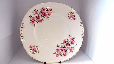 Duchess bone china bread plate pink roses