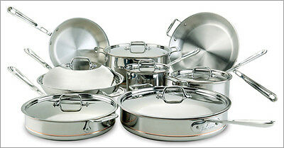 ALL-CLAD 14PC COPPER CORE COOKWARE SET 60090  *NEW* Lifetime Warranty