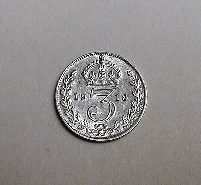 George V 1918 Threepence Very Nice Condition  Very Nice Rare Coin