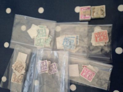 Belgium approx 500 stamps in bundles and bags bundleware, harder to come by