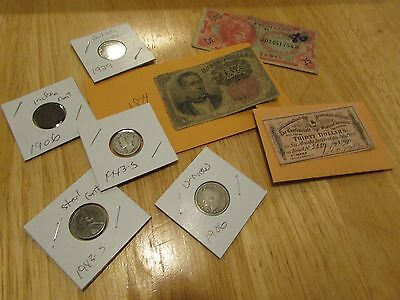 Collection Of Old Us Coins And Currency   Set 8