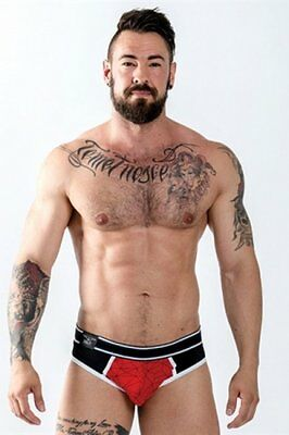 Jock Brief URBAN SoMa  Rouge Taille : S - L - M - XL