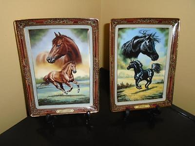 Collector Horse Plates - 2 Franklin Mint Heirloom - 1 Thoroughbred/ 1 Arabian