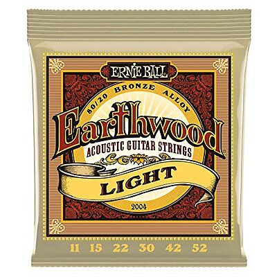 Ernie Ball 2004 Earthwood 80-20 Bronze Acoustic Guitar Strings 11-52 Bulk F/S /