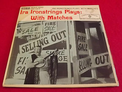 """Ira Ironstrings~Plays With Matches [pic sleeve. 7""""@45 - 4 track EP] 1958"""