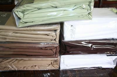 400Tc Egyptian Sateen Cotton  Double Flat Sheet - Assorted Colours - New