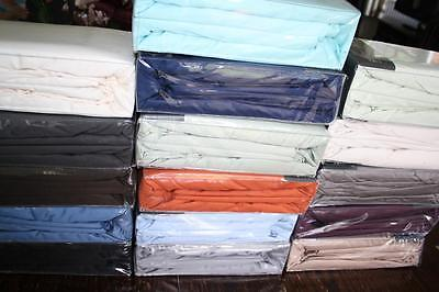 400Tc Egyptian Sateen Cotton  Super King Fitted Sheet - Assorted Colours - New