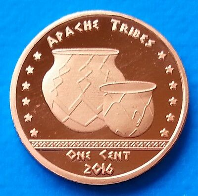 Apache Indian Tribe 1 cent 2016 UNC USA unusual coinage