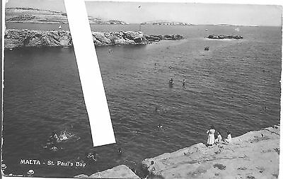 Malta RP VINTAGE ST PAUL'S  BAY SEA SIDE VIEW